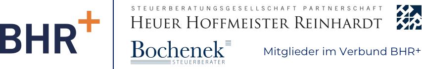 Logo BHR+| Steuerberatungsgesellschaft Heuer Hoffmeister Reinhardt Partnerschaft | Bochenek Steuersozietät